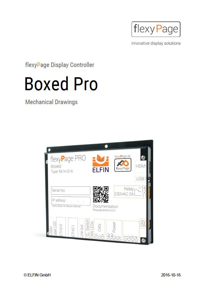 flexyPage Displays Controller Boxed Pro