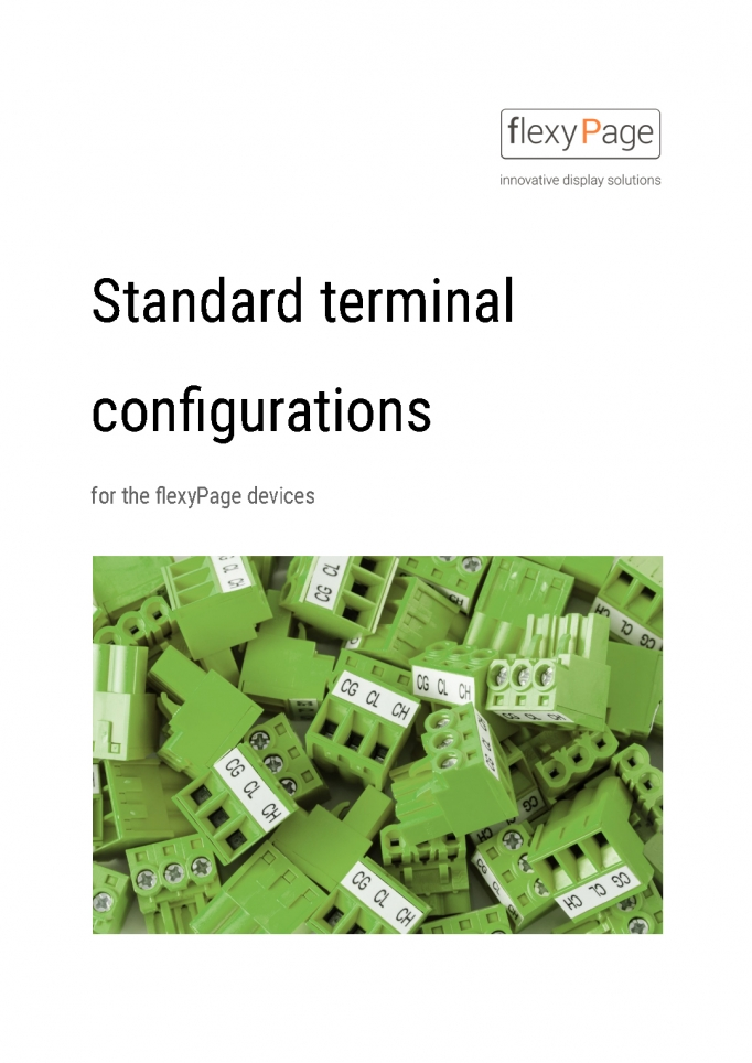 Standard terminal configuration for flexyPage displays