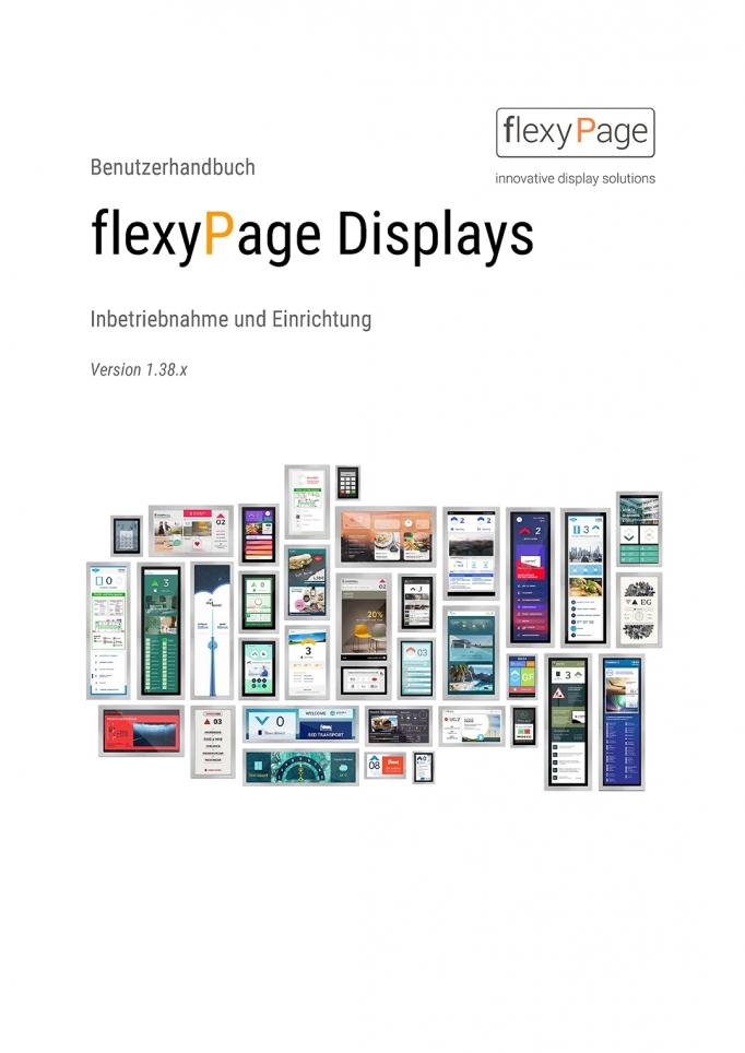 Benutzerhandbuch flexyPage Displays