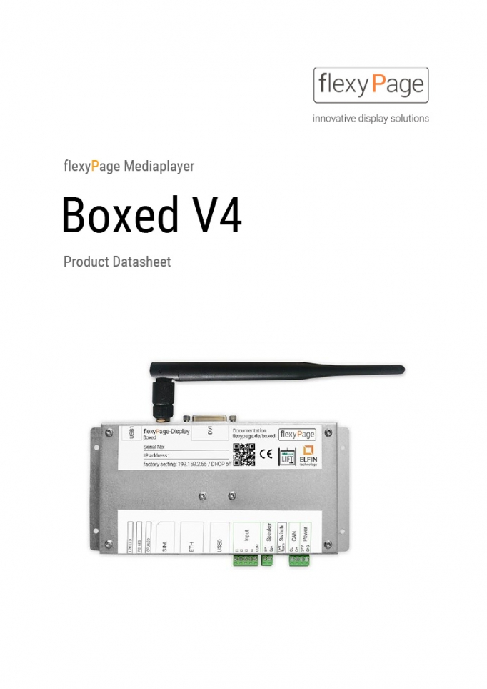 Multimedia Player Boxed V4