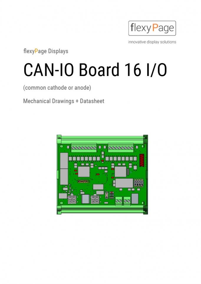 Datenblatt für i/o Module CN16
