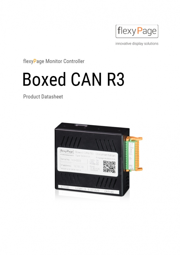 Mediaplayer Boxed CAN R3 product datasheet