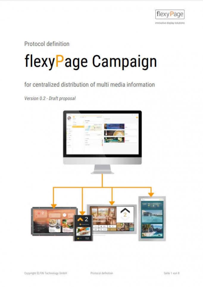flexyPage Campaign - Protokollbeschreibung