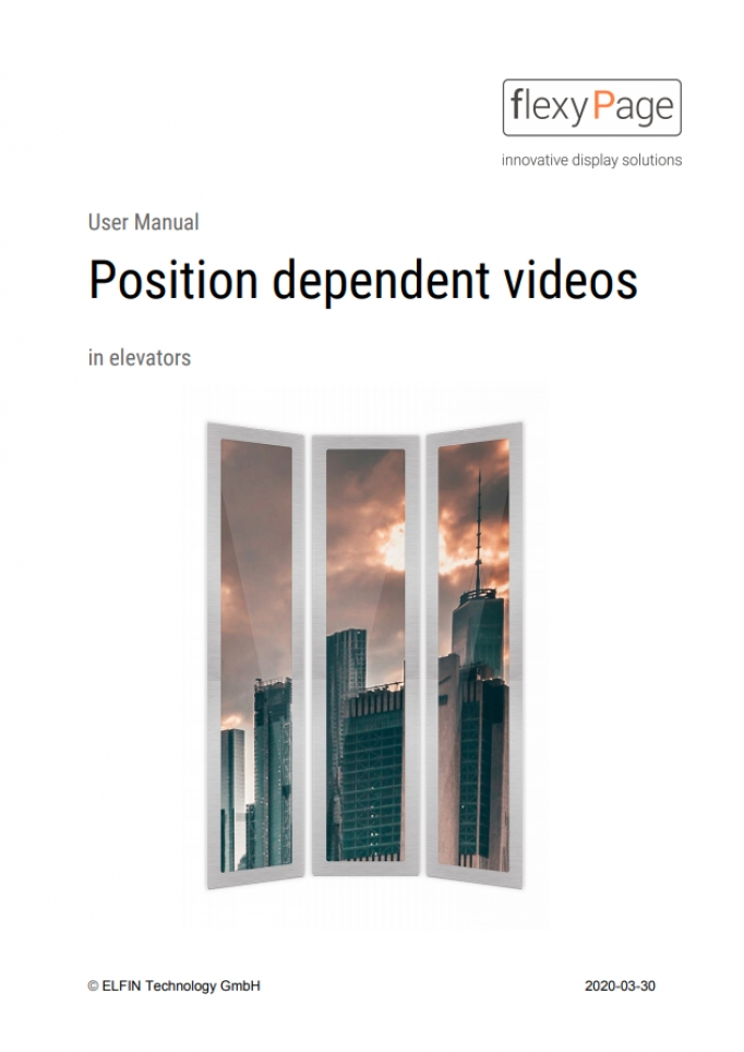 User manual position dependent videos in elevators