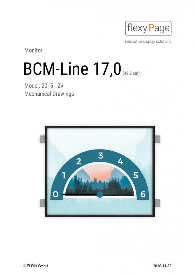 Mechanical drawing monitor BCM-Line 17