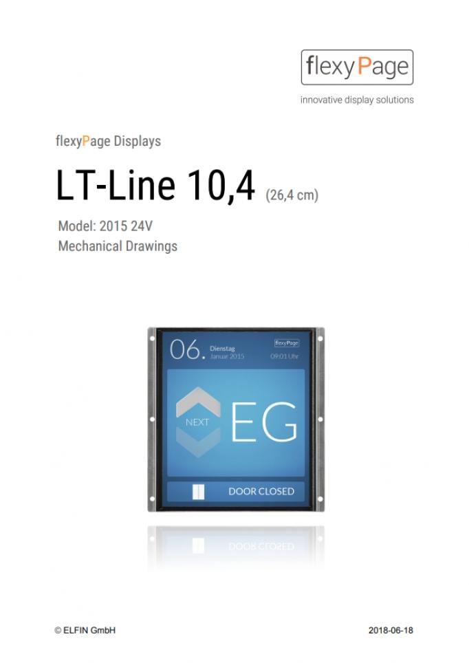 Mechanical drawing Display LT-Line 10,4