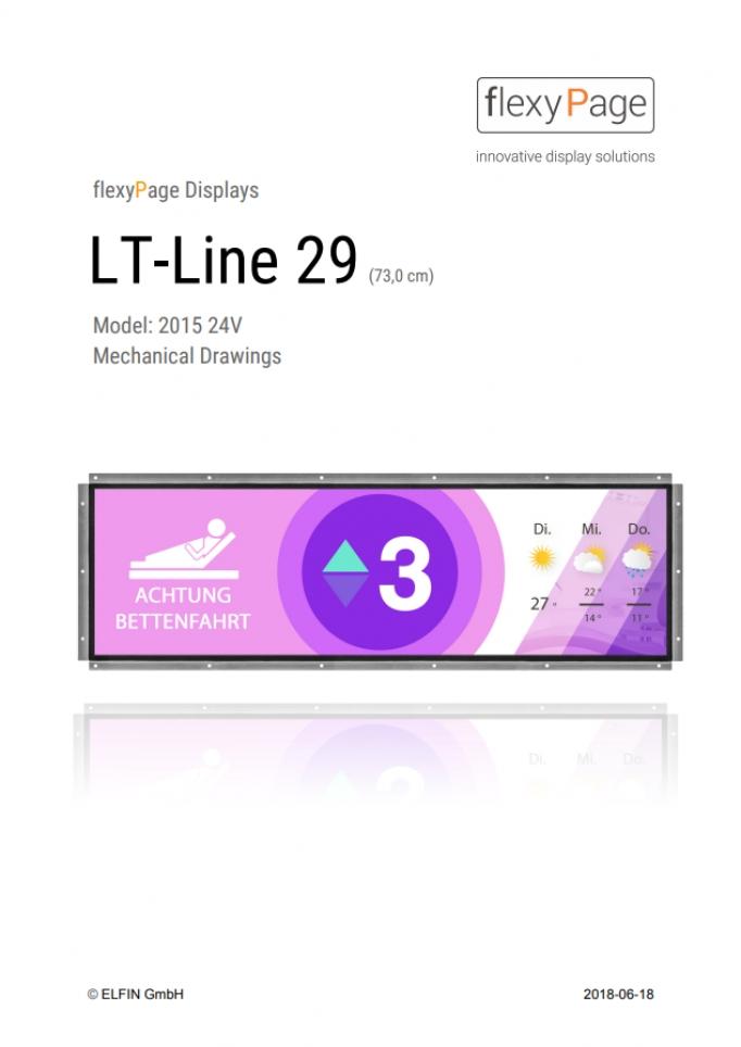 Mechanical drawing Display LT-Line 29,0