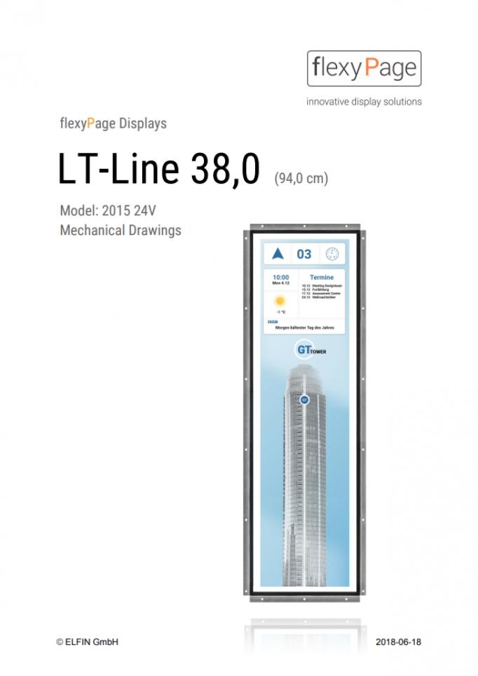 Mechanical drawing Display LT-Line 38,0