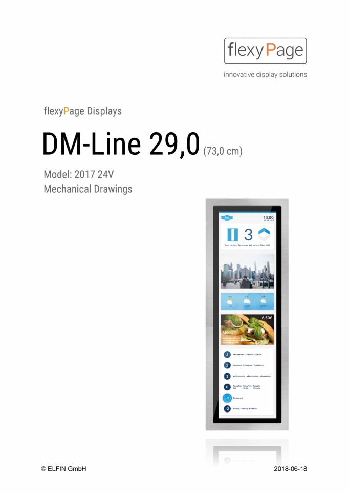 Mechanical drawing Display DM-Line 29,0
