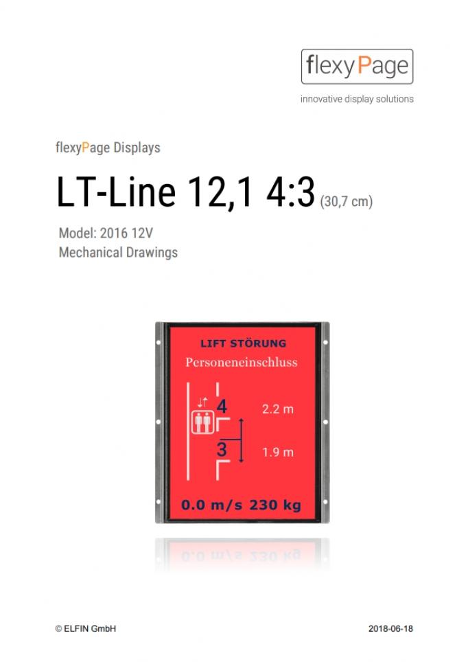 Mechanical drawing Display LT-Line 12,1 4:3