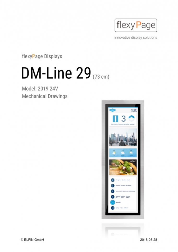 Mechanical drawing display DM-Line 29