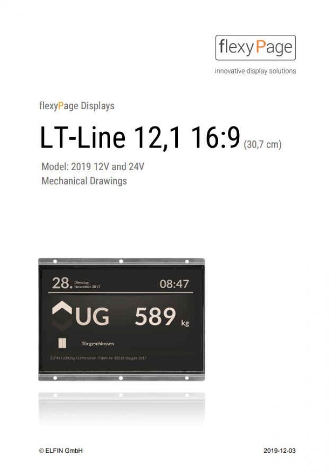 Mechanical drawing display LT-Line 12,1 16:9
