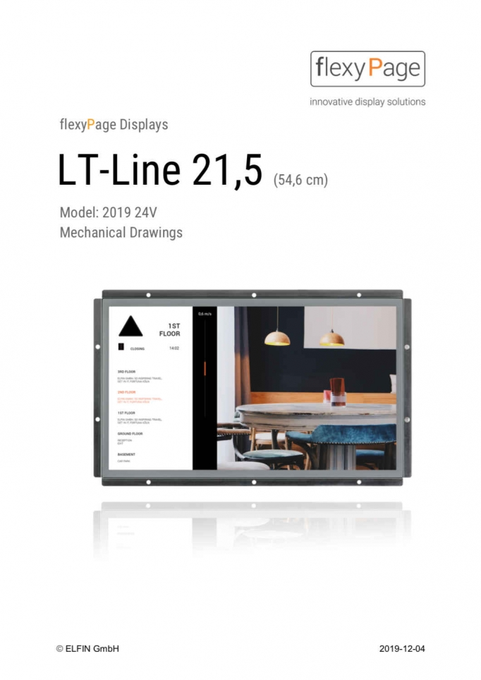 Mechanical drawing display LT-Line 21,5