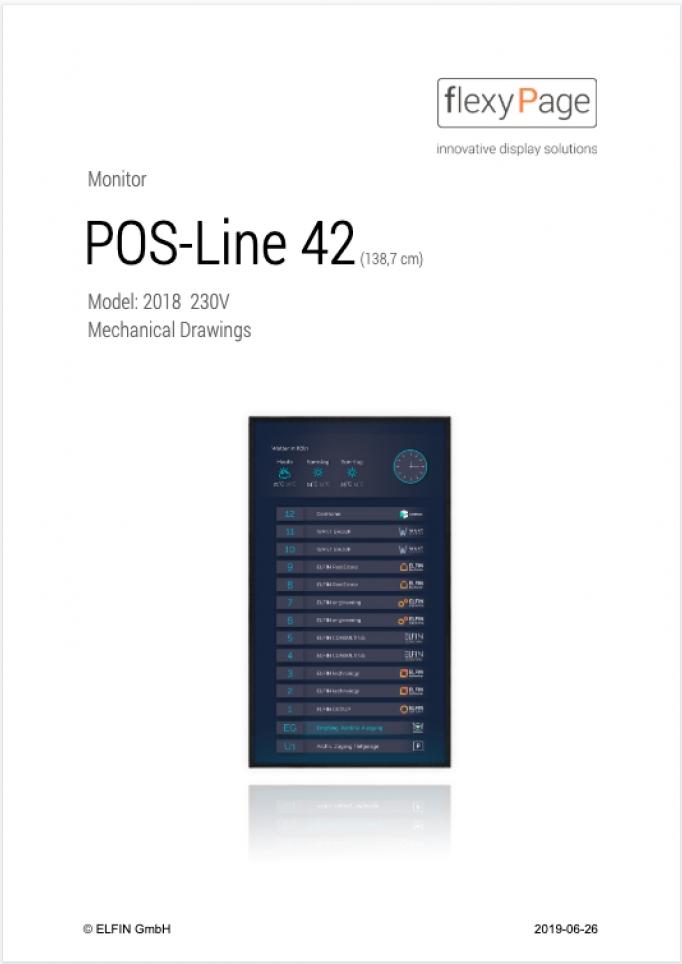 Mechanical drawings POS-Line 42
