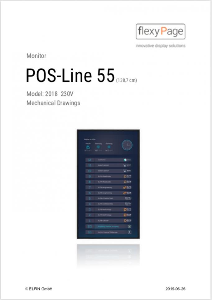 Mechanical drawings POS-Line 55