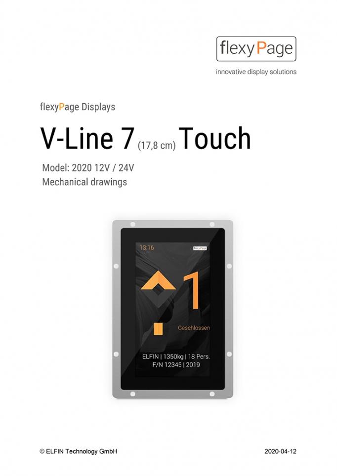 V-Line mechanical drawing/Maßzeichnung