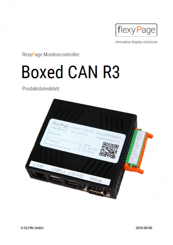 Mechanical drawing Monitor Boxed CAN R3