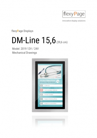 Mechanical drawing Display DM-Line 15,6