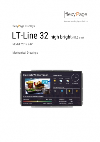 Mechanical drawing display LT-Line 32 High Bright