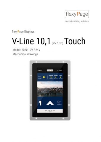 mechanical drawing display V-Line 10,1 Touch