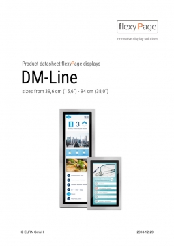DM-Line displays product datasheet