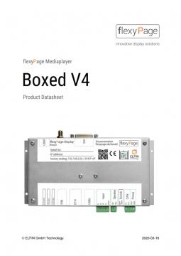 datasheet for Mediaplayer Boxed V4