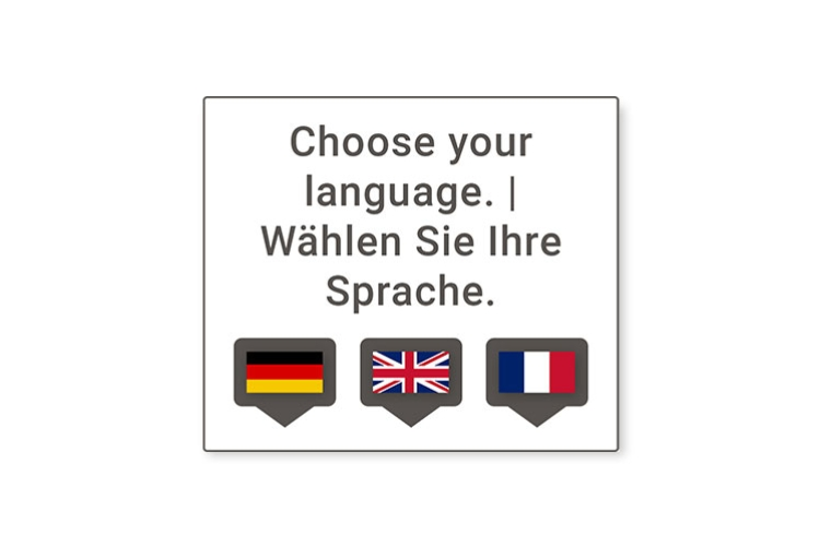 Sprachauswahl