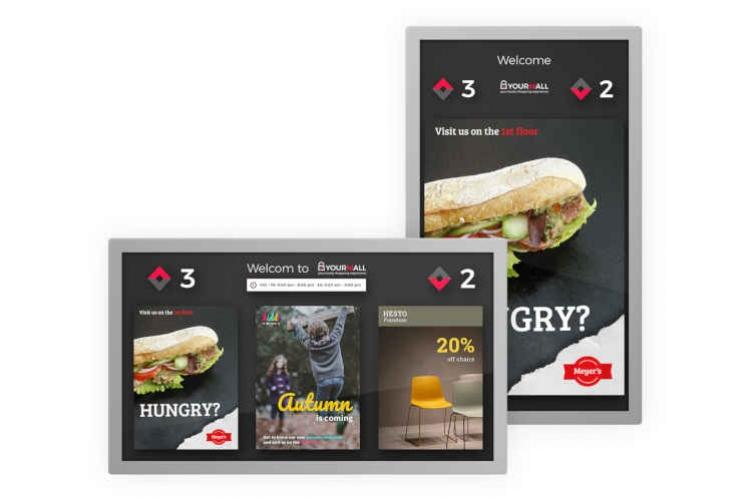 Multimedia Display für Aufzüge