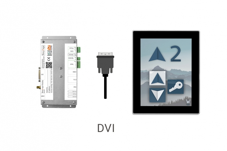 Mediaplayer Boxed V4 for touch monitors in elevators