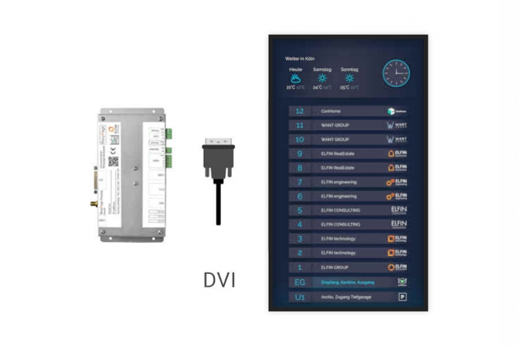 digital signage BCM-Line monitor and media player boxed V4