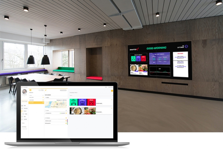 Dashboard video wall for office building