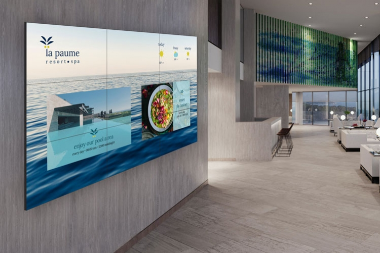 video wall for hotel