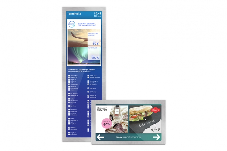 displays for airports