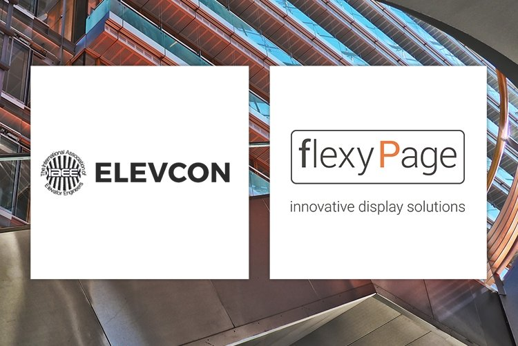 ELFIN with flexyPage elevator displays at elevcon in Berlin