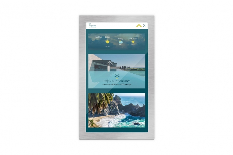 Screen design for a hotel