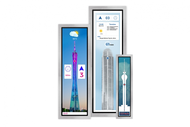 Tower on a flexyPage lift display