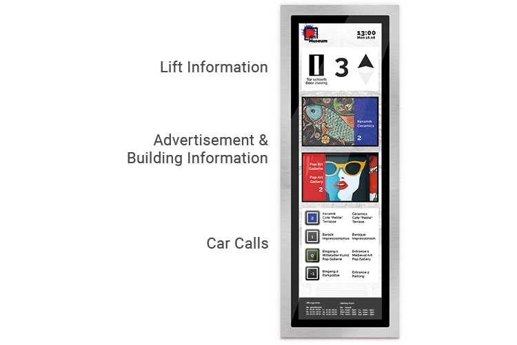 stretched touch screen for elevators