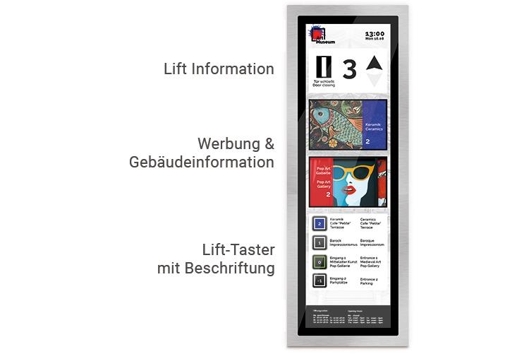 Kabinentableau Touch Display