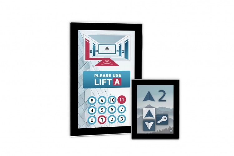 Touch monitors for elevators CEF-Line