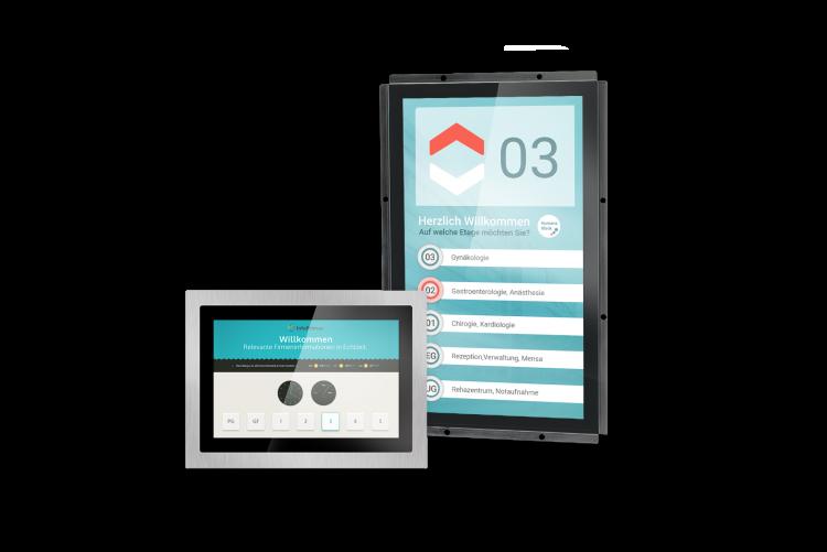 Aufzugsdisplay mit Touch-Technologie