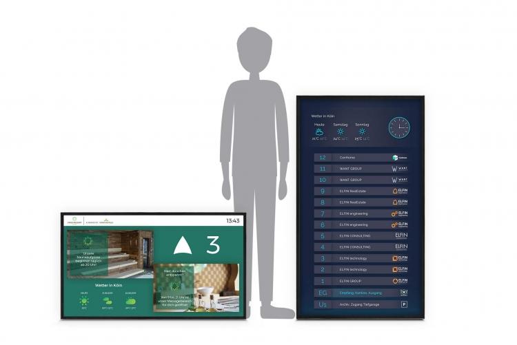 flexyPage POS-Line Monitor für Aufzüge und Digital Signage