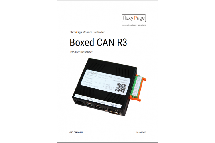 flexyPage Controller Boxed CAN R3 product data sheet