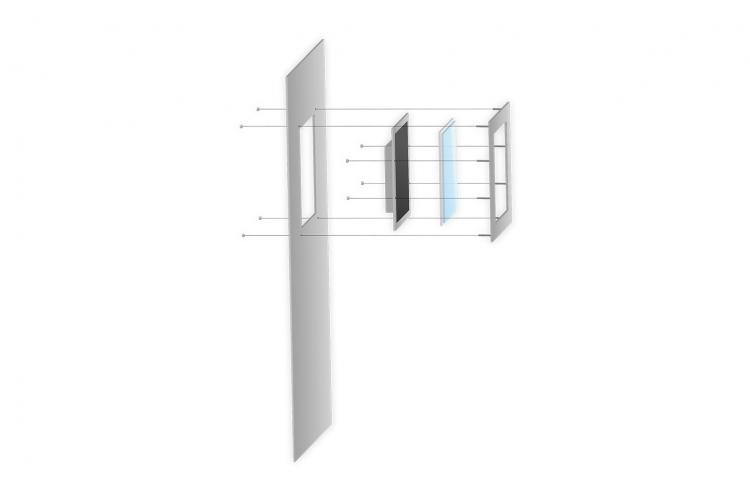 Einbauoption der flexyPage Displays