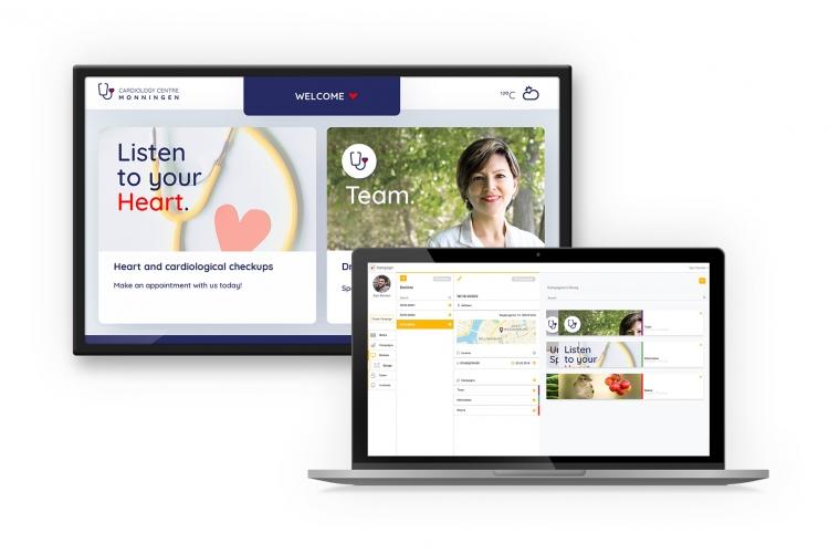 CMS flexyPage Campaign - Digital Signage for medical practices