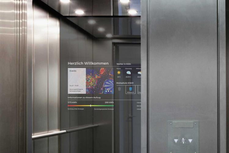 flexyPage mirror display for elevators