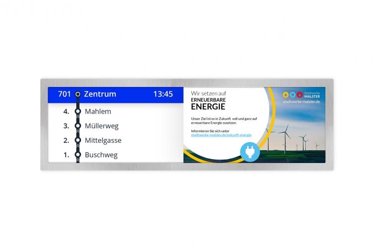 Digital Signage for transport sector