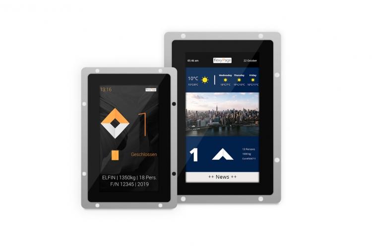 V-Line - Touch Displays für Aufzüge