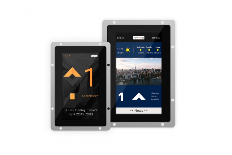 V-Line elevator touch displays 7 inch and 10.1 inch