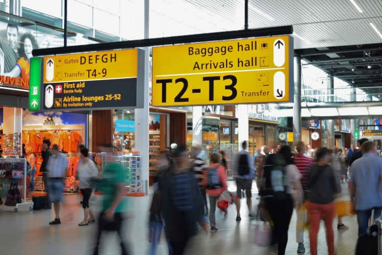 guidance systems and signage at the airport