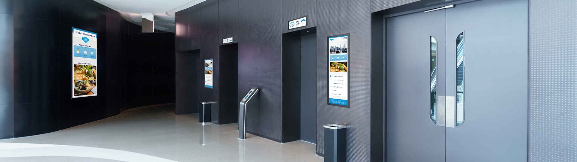 flexyPage displays for office buildings